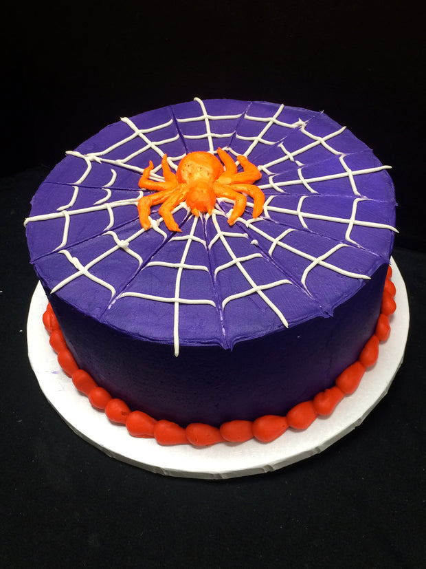 Spider Web Party Cake