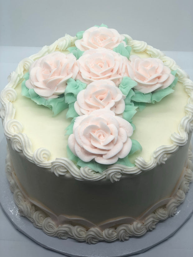 Rose Cross Cake