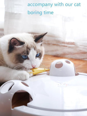Fully automatic cat fun toy, accompany with our cat in the boring time - Automatic cat fun toy + Cat Peppermint Fish
