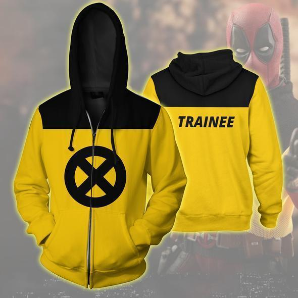Deadpool Hoodies - Crazy Chilled Hero Deadpool Zip Up Sweatshirt