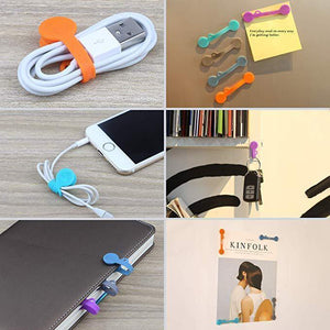 Magic Multi-function Silicone Magnet Headset Type Bobbin Winder