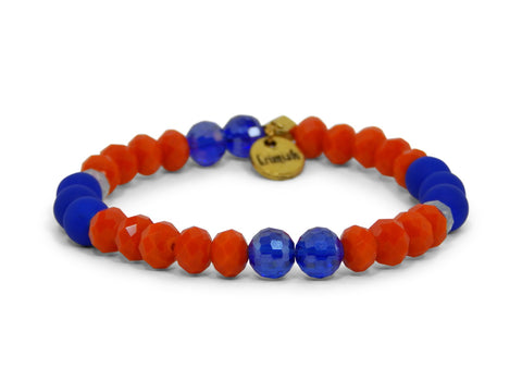 Erimish Drew Blue and Orange Bracelet