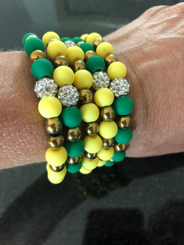 Erimish Green and Yellow Bracelet