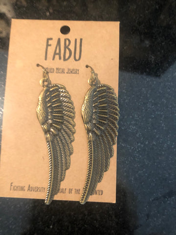 Angel Wing Earrings by Fabu