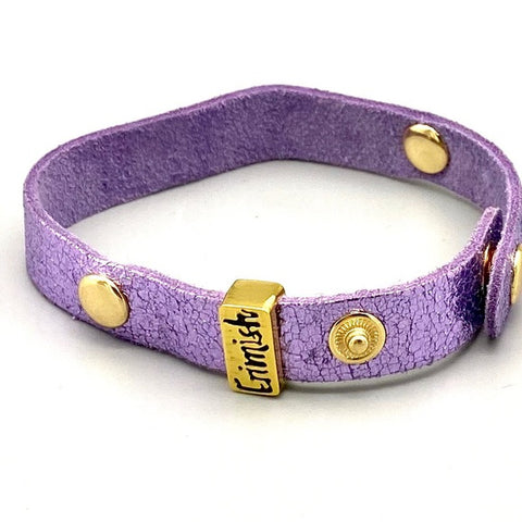 Erimish Purple Leather Bracelet