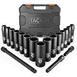 TACKLIFE 1/2-Inch Drive Master Deep Impact Socket Set, Metric, CR-V, 6 Point, 18-Piece Set - HIS1A
