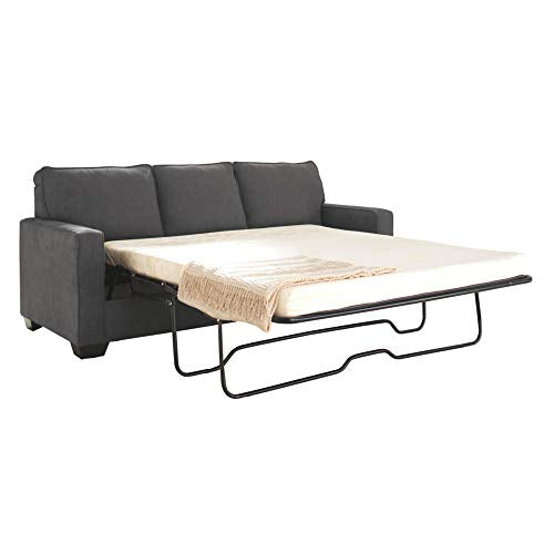 Ashley Furniture Signature Design - Zeb Sleeper Sofa - Contemporary Style Couch - Queen Size - Charcoal