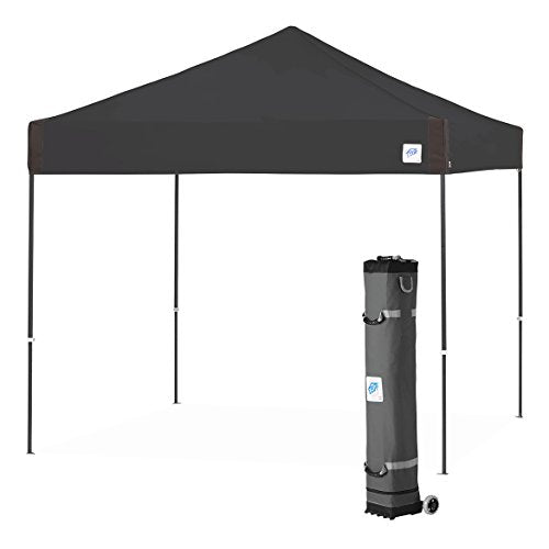 E-Z UP Pyramid Instant Shelter Canopy, 10 by 10', Black