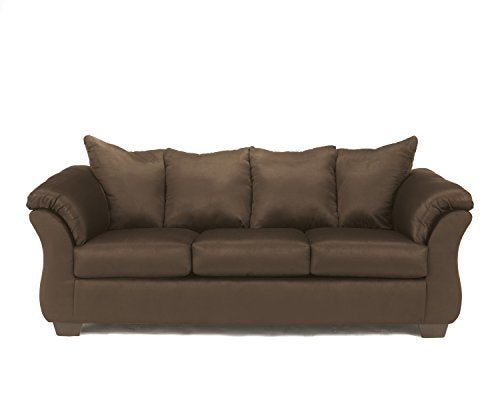 Ashley Furniture Signature Design - Darcy Sleeper Sofa - Full Size - Ultra Soft Upholstery - Contemporary - Cafe Brown