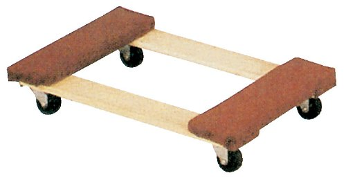 "Vestil HDOC-1624-9 Hardwood Dolly with Carpet End, 900 lbs Capacity, 24"" Length x 16"" Width x 5-3/4"" Height Deck"