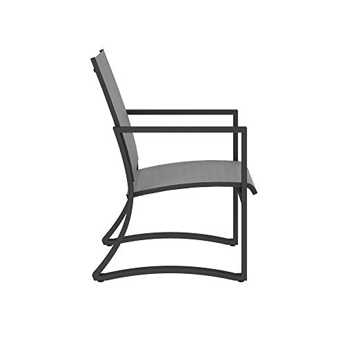 Cosco Outdoor Living 88681LGCE Cosco Outdoor Furniture Dining Chairs, Charcoal