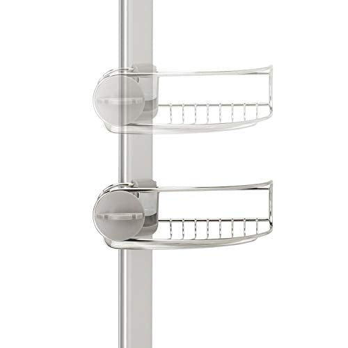 simplehuman Tension Shower Caddy, Stainless Steel + Anodized Aluminum
