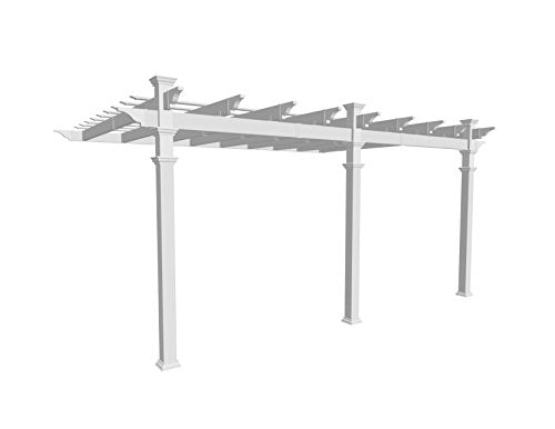 Valencia 12' x 16' Attached Vinyl Pergola