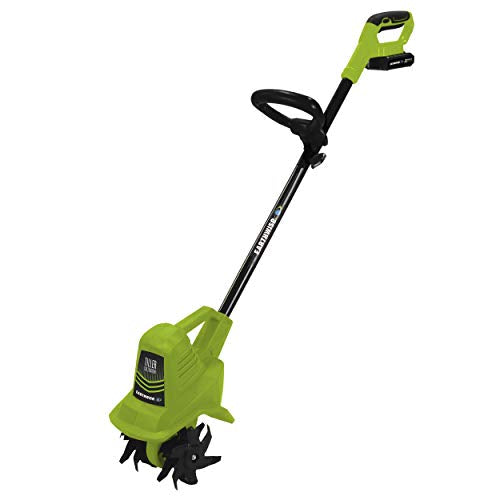 Earthwise TC70020 20-Volt 7.5-Inch Cordless Tiller, ((2AH Battery & Fast Charger Included)
