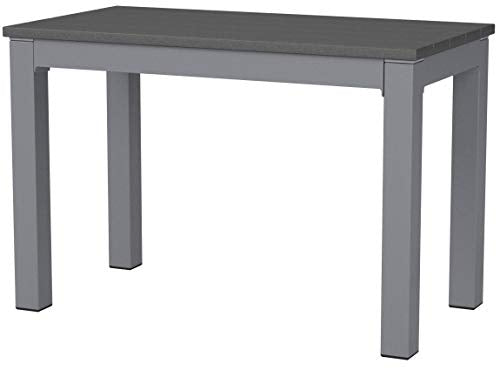 "Cortesi Home CH-DB700114 Jaxon Aluminum Outdoor Bench in Poly Resin, 26"" W x 14"" L x 17"" H, Grey"