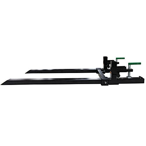 Clamp on Pallet Forks w/ Adjustable Stabilizer Bar LW for loaders 1500lb