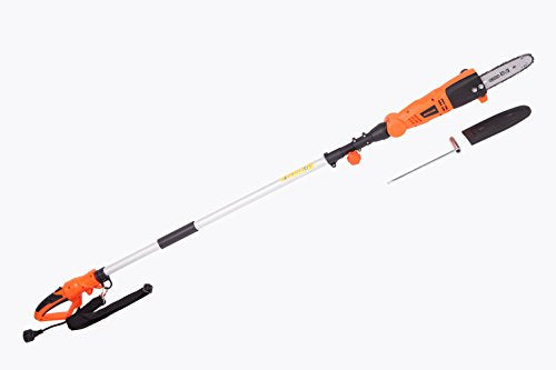GARCARE 6.5-Amp Corded Pole Chain Saw Hedge Trimmer with Adjustable Head
