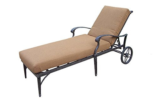 Oakland Living Belmont Aluminum Chaise Lounge, Aged Black