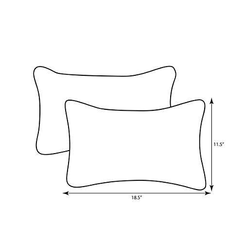 "Pillow Perfect Decorative Textured Rectangle Solid Toss Pillows, 18-1/2""L x 11-1/2""W x 5"" D, Gray"
