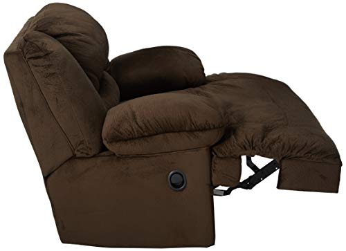 Ashley Furniture Signature Design - Toletta Oversized Recliner - Pull Tab Manual Reclining - Contemporary - Chocolate