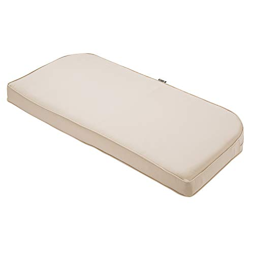"Classic Accessories Montlake Bench Cont. Cushion Foam & Slip Cover, Antique Beige, 41x18x3"" Thick"