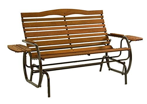 Jack Post CG-12Z Country Garden Double Glider with Trays, Bronze