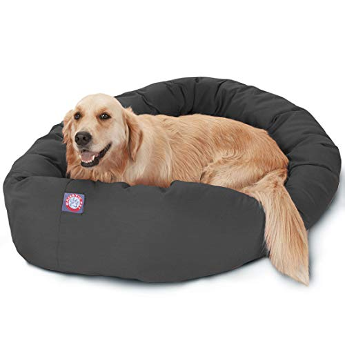 "Majestic Pet 40"" Gray Bagel Dog Bed"