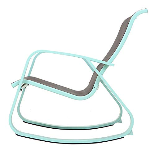 Grand Patio Modern Swing Rock Chair Glider with Macaron Blue Aluminum Frame, Indoor/Outdoor