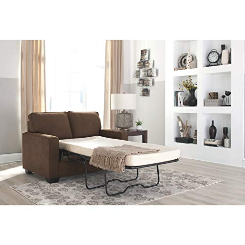Ashley Furniture Signature Design - Zeb Sleeper Sofa - Contemporary Style Couch - Twin Size - Espresso