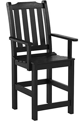 Highwood Lehigh Counter Height Armchair, Black
