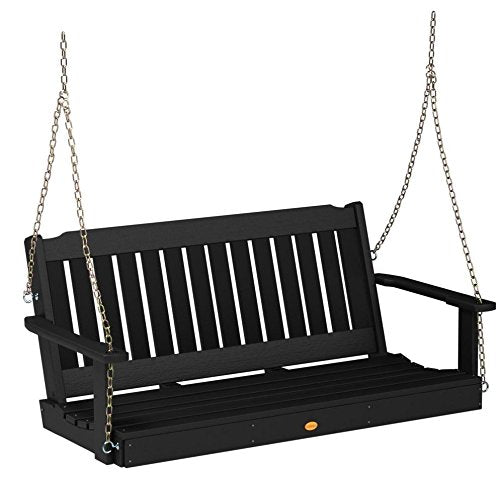 Highwood AD-PORL2-BKE Lehigh Porch Swing, 4 Feet, Black