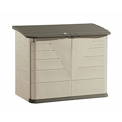 Rubbermaid Outdoor Horizontal Storage Shed, Large, 32 cu. ft., Olive/Sandstone (FG374701OLVSS)