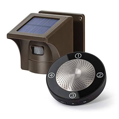 1/2 Mile Long Range Solar Wireless Driveway Alarm Outdoor Weather Resistant Motion Sensor & Detector-NO DIY Security Alert System-Monitor & Protect Outside Property (No Need to Replace Battery)