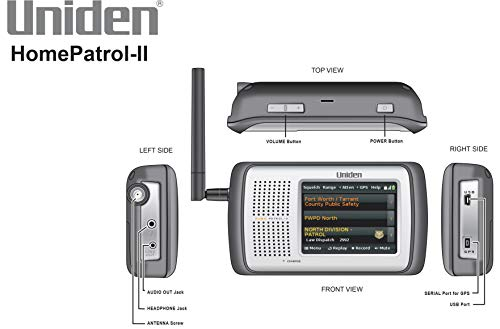 Uniden HomePatrol-2 Color Touchscreen Simple Program Digital Scanner, TrunkTracker V and S,A,M,E, Emergency/Weather Alert, APCO P25 Phase 1 and 2! Covers USA and Canada, Quick Record and Playback,