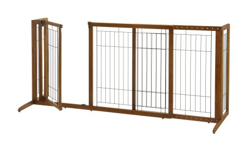 Richell Deluxe Freestanding Pet Gate with Door, Medium