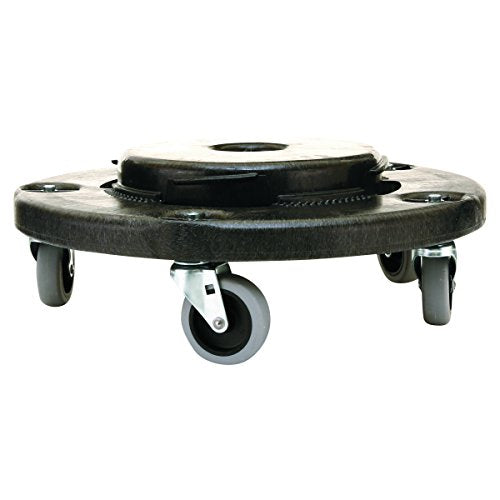 Rubbermaid Commercial Products BRUTE Twist On/Off Round Dolly, Black (FG264000BLA)