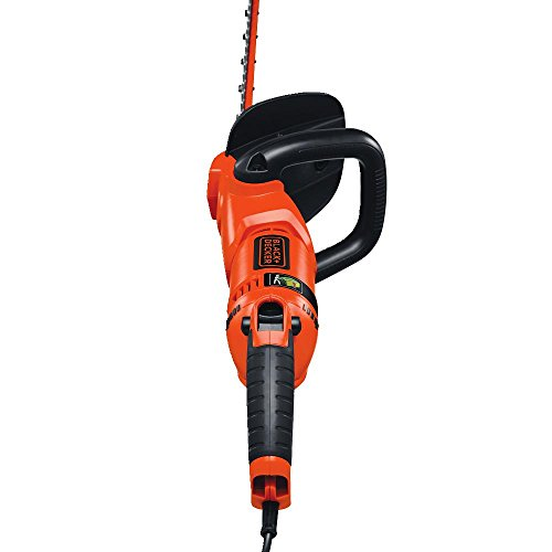 BLACK+DECKER HH2455 3.3-Amp HedgeHog Hedge Trimmer with Rotating Handle And Dual Blade Action Blades, 24""