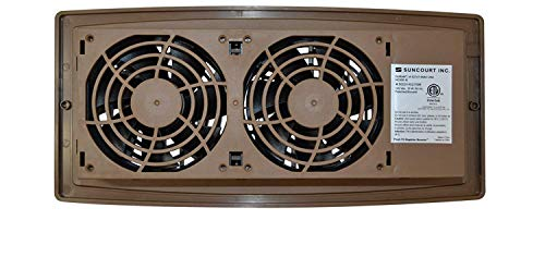 Suncourt Flush Fit Register Air Booster Fan - HC500-B - Brown - (2 Pack)