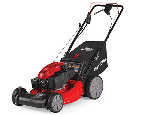 Craftsman M275 159cc 21-Inch 3-in-1 High-Wheeled  Self-Propelled FWD Gas Powered  Lawn Mower with Bagger