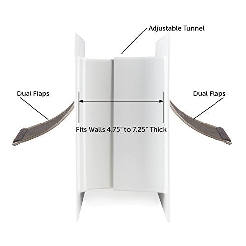PetSafe Wall Entry Pet Door with Telescoping Tunnel, Large, for Pets Up to 100 Lb, White, Made in The USA