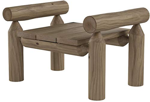Lakeland Mills Cedar Log Ottoman, Natural