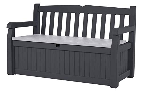 Keter 229437 Eden Storage Bench, Grey