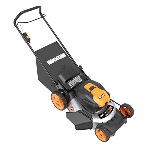 WORX WG751 40V 19'' Cordless Lawn Mower, 2 Batteries and Charger Included