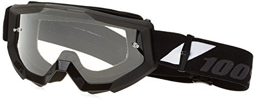 100% Unisex-Adult Goggle MX STRATA Goliath Clear Lens (Black, One Size) (50400-166-02)