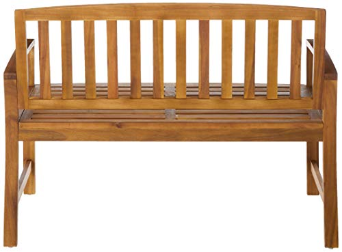 Great Deal Furniture 297246 Tamika Teak Finish Acacia Bench