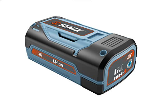 SENIX CSPX5-M-B 58 Volt Lithium Ion 2.5 AHR Built in Battery Meter, Blue