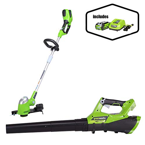 "GreenWorks G-MAX 40V 13"" String Trimmer + Jet Blower"
