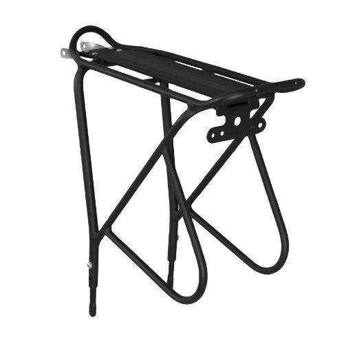 "Ibera Bike Rack - Bicycle Touring Carrier with Fender Board, Frame-Mounted for Heavier Top & Side Loads, Height Adjustable for 26""-29"" Frames"