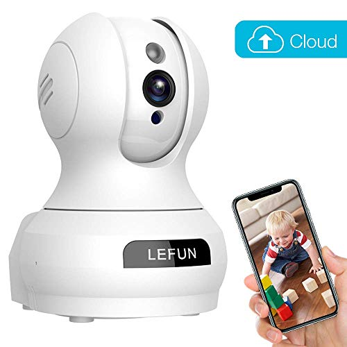 Baby Monitor, Lefun Wireless IP Security Camera WiFi Surveillance Pet Camera with Cloud Storage Two Way Audio Remote Viewing Pan/Tilt/Zoom Night Vision Motion Detect for Home/Shop/Office