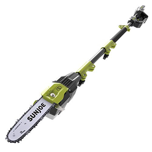 Sun Joe iON100V-10PS-CT 10-Inch 100-Volt Max Lithium-iON Cordless Telescoping Pole Chain Saw, Core Tool (No Battery or Charger)